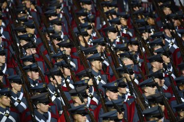 VMI marches during the Trump inaugural parade in Washington, D.C.