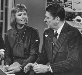 "Ronald Reagan Chats with Daughter Maureen on the ""AM Show"""