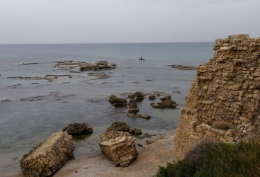 A View Of The Mediterranean Sea In Caesarea
