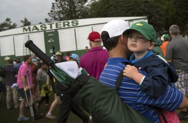Par 3 contest suspended due to rain at the Masters