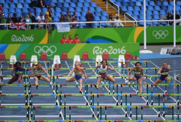 Miller-Koch in Women's Heptathlon 100M Hurdles at 2016 Rio Summer Olympics