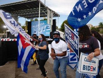 Kamala Harris Campaigns for Biden for.President in Miami, Florida