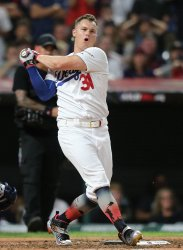 Dodgers' Joc Pederson during the MLB All-Star Home Run Derby in Cleveland, Ohio