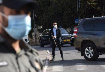 Israeli Security Guard PM Benjamin Netanyahu's Convoy In Jerusalem