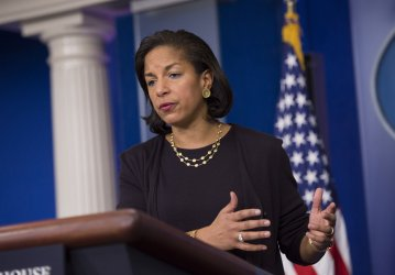 National Security Advisor Susan Rice speaks to the media in Washington, D.C.
