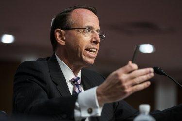 Former Deputy AG Rosenstein Testfies on FBI's Probe Into Russian Interference