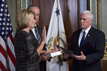 Vice President Pence Swears In Betsy DeVos As Education Secretary