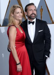 Elisabeth Carell and Steve Carell arrive for the 88th Academy Awards in Hollywood