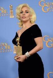 Lady Gaga garners award at the 73rd annual Golden Globe Awards in Beverly Hills