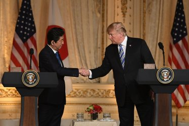 President Trump and Prime Minister Abe Hold Joint Press Conference in Palm Beach, Florida