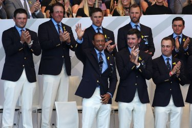 Tiger Woods at the Ryder Cup 2018 Opening Ceremony