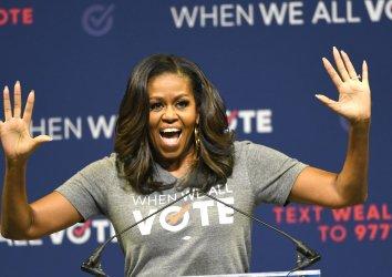 Michelle Obama Hosts When We All Vote Rally in Miami Florida