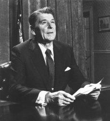 President Reagan in Nationally Televised Address