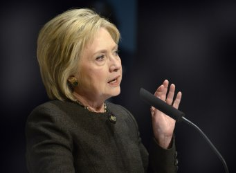 Hillary Clinton attends campaign event at the Jewish Federation in Waukee, Iowa