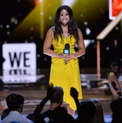 Demi Lovato appears onstage at We Day California in Inglewood