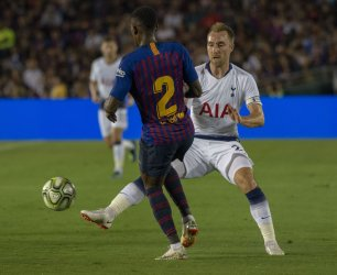 International Champions Cup match between FC Barcelona vs Tottenham Hotspur in Pasadena, California