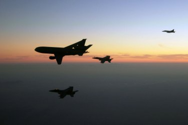 Air Force refueling mission over Afghanistan