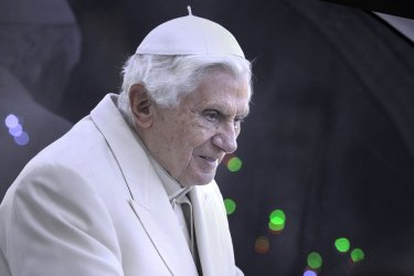 Pope Benedict XVI during his weekly general audience in St. Peter's square at the Vatican