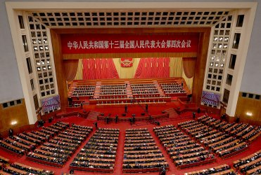 China's Top Leaders Attend the NPC in Beijing, China
