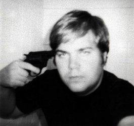self-portrait of John Hinkley who attempted to assassinate President Reagan