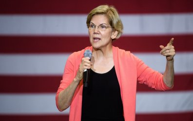 Democratic presidential candidate Sen. Elizabeth Warren holds a rally in Miami