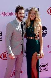 Singer Thomas Rhett and Lauren Gregory Akins attend the Billboard Music Awards in Las Vegas