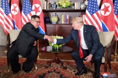 President Donald Trump Meets with North Korean Leader Kim Jong Un in Singapore
