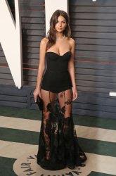 Emily Ratajkowski arrives at the Vanity Fair Oscar Party in Beverly Hills