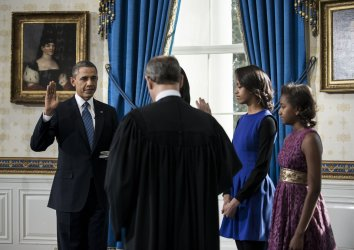 U.S President Barack Obama Takes Oath of Office at the White House