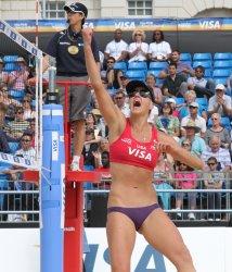 Brittany Hochevar of team USA celebrates against Brazil.