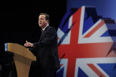 David Cameron delivers keynote speech at Conservative Party Conference 2011