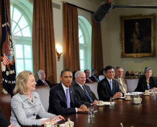 President Obama Holds Cabinet Meeting at White House