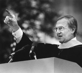 Chrysler Corporation Chairman Lee Iacocca at M.I.T.