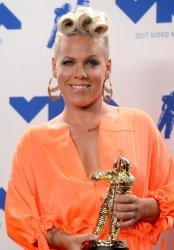 Pink wins award at the 2017 MTV Video Music Awards in Inglewood, California