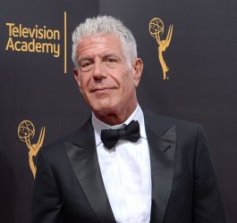 Anthony Bourdain attends the Creative Arts Emmy Awards in Los Angeles