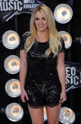 Britney Spears arrives at the 2011 MTV Video Music Awards in Los Angeles