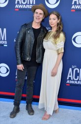 Ross Copperman and Katlin Copperman attend the Academy of Country Music Awards in Las Vegas