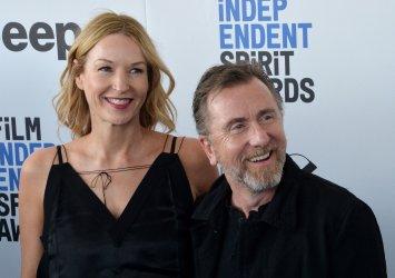 Nikki Butler and Tim Roth attend Film Independent Spirit Awards in Santa Monica, California