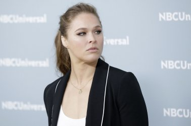 Ronda Rousey at the 2018 NBCUniversal Upfront