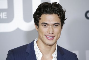 Charles Melton at The CW network Upfront in New York