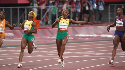 Jamaica's Thompson-Herah sets new women's 100m Olympic Record