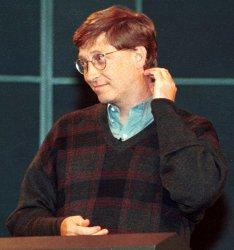 Microsoft's Bill Gates speaks to COMDEX in Las Vegas
