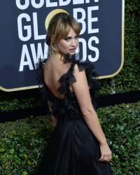Lily James attends the 75th annual Golden Globe Awards in Beverly Hills