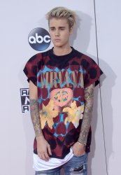 Justin Bieber attends the 43rd annual American Music Awards in Los Angeles