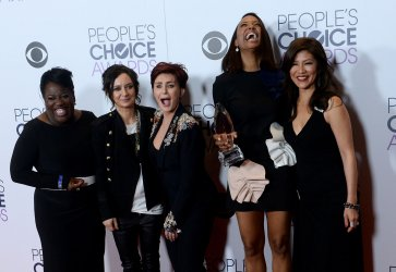 Sheryl Underwood, Sara Gilbert, Sharon Osbourne, Aisha Tyler and Julie Che garners award at the 42nd annual People's Choice Awards in Los Angeles
