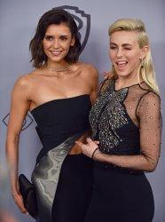 Nina Dobrev and Julianne Hough attend Instyle/Warner Bros. Golden Globes party