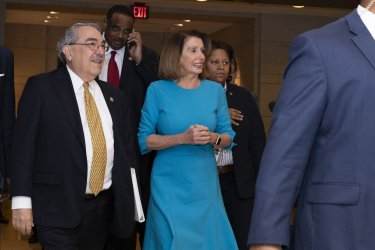 House Democratic Leader Nancy Pelosi and Rep. GK Butterfield