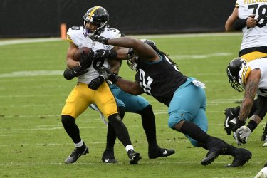 Pittsburgh Steelers compete against the Jacksonville Jaguars