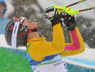 Germany's Maria Riesch wins gold in the Ladies' Slalom in Whistler