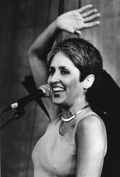 Folk singer Joan Baez sings at Newport Folk Festival